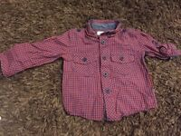 Bows and arrows (mini club/Boots) 6-9m blue and red boys shirt