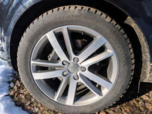 Audi Q7 winter wheels and studded tires, VW Touareg