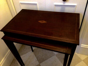 Beautiful Antique Mahogany Nesting Tables, quality pieces, large