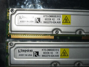 Kingston RAMBUS ECC RAM memory modules