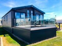 ABI Harrogate Luxury Lodge on seaside caravan park Barmston Beach includes Deck