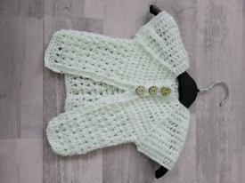 Hand Crocheted Baby Cardigan