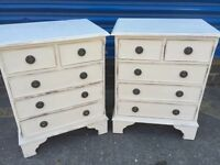 2 X Rare Shabby Chic Bedside Tables, Can Deliver