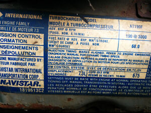 Moteurs 7.3 litres turbo diesel Ford