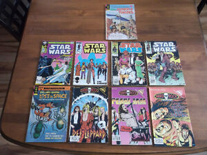 COLLECTION OF OLD COMICS STAR WARS / MUSIC/ETC