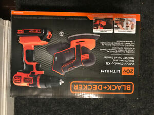 New 20V black decker Drill / Driver & Mouse Detail Sander & batt