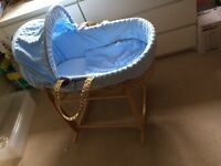 Blue Mosses Basket with stand