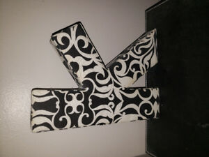 Fabric letter k. Stands up or hangs on wall