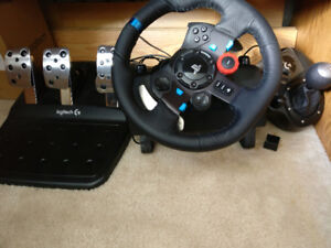 Logitech G29 Driving Force game steering wheel + Shifter
