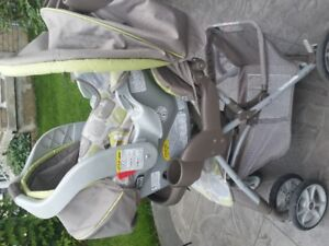 GRACO SPREE CLASSIC CONNECT LIGHT WEIGHT STROLLER AND CAR SEAT