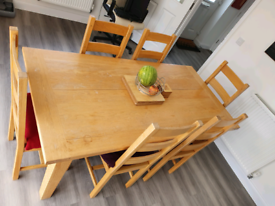 Oak Kitchen Table and Chairs