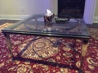 3 piece glass table set for family / living room