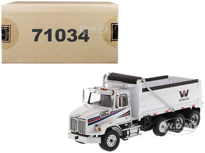 WESTERN STAR 4700 SB DUMP TRUCK WHITE 1/50 MODEL BY DIECAST MASTERS 71034