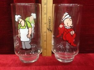 1975 Popeye Coca Cola Collector Glasses  $15 EACH Windsor Region Ontario image 2