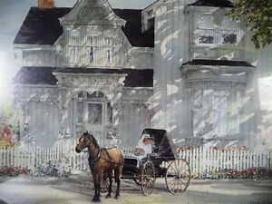 Victorian Wedding Picture, w/ Horse and Buggy by Walter Campbell Stratford Kitchener Area image 3