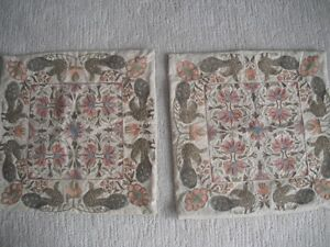 2 Pottery Barn Embroidered Pillow Covers