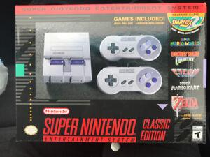 Super Nintendo classic edition console. Brand new in box!
