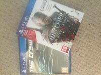 2 ps4 games- The Witcher 3 and The Crew