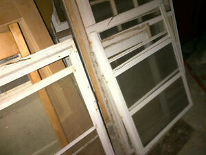 White storm windows for sale