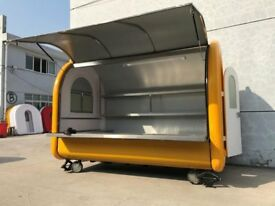 Hand Push Food Cart Catering Trailer Burger Van Ice Cream Sweets Cart 2800x2000x2100