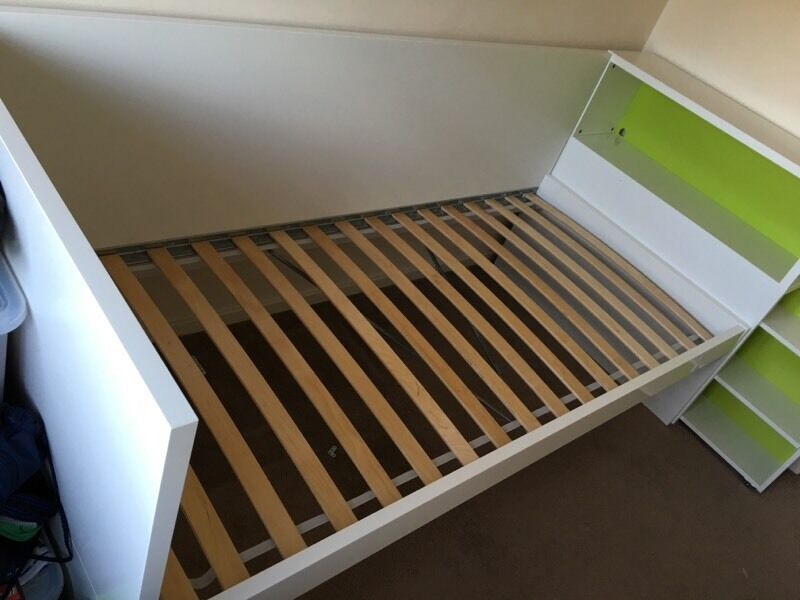 ikea flaxa single bed frame and headboard storage in stevenage hertfordshire gumtree. Black Bedroom Furniture Sets. Home Design Ideas