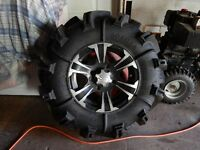 like new 30 inch gorilla sylverbacks on 14 inch ss rims  can am