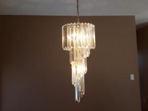 Hanging Crystal/Prismatic Chandelier
