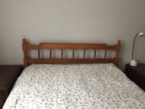 Tete de Lit en Erable ** Double ** Male Headboard