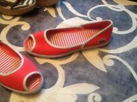 Lacoste summer flats new 7,5