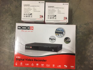 Brand new 8ch HD DVR and 2 DOME CAMERAS .Provision -isr