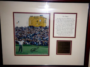 Tom lehman autoed pic with COA 1996 British open Champion Golf