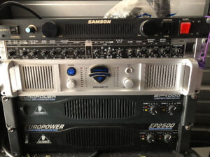 Power amps, crossover, power supply etc.