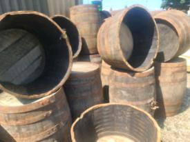 Timber oak barrels