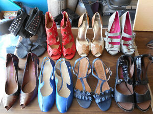 Over 70 designer shoes for sale. Sizes 9, 9.5, 10   $50 each