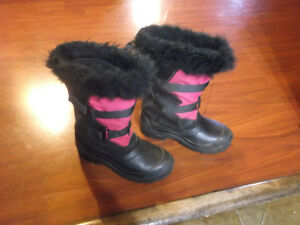 2 Pairs of Girls Winter Boots.  sizes 6 & 4