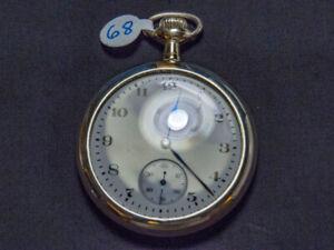 Montre de poche Elgin Grade 313, Model 7, fabriquée en 1907