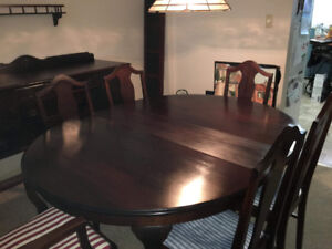 Antique Queen Anne dining set