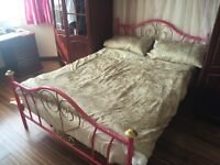 Metallic Bed Frame + Mattress