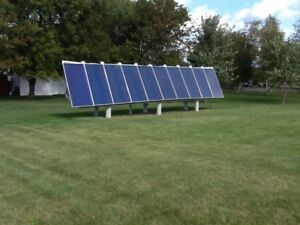 complete hydronics solar system with storage tanks - FREE Energy