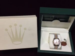 LADIES ROLEX DATEJUST 178313 , DIA, BEZEL AND DIAL , M. OF PEARL