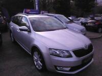 2013 Skoda OCTAVIA BIG SPEC 1 OWNER CAR SAT NAV LEATHER Elegance Tdi Cr 2 Estat
