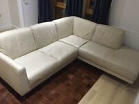 IKEA Leather Sofa with the Chaise Lounge on the Left