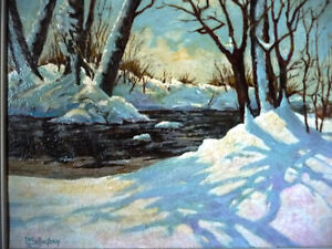 """Early Spring Landscape by T. Callaghan """"Spring Patterns"""", 1960's Stratford Kitchener Area image 2"""