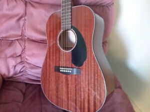 Fender CD60S Solid top all mahogany acoustic guitar.