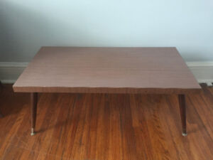 Vintage MCM Coffee table with brass feet - Asking $40