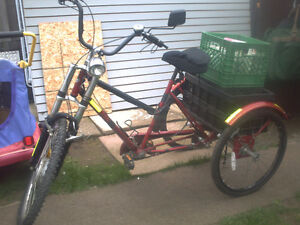3 Wheel Huffy 3 spd / with 36v front HUB