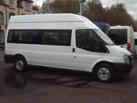 FORD TRANSIT 15 SEAT HIGH ROOF WHEELCHAIR ACCESSIBLE DISABILITY MINIBUS NO VAT