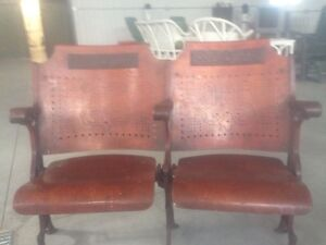RARE Antique Theatre Seats - These are really beautiful! London Ontario image 2