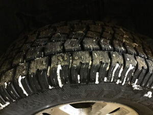 Four avalanche extreme studded tires