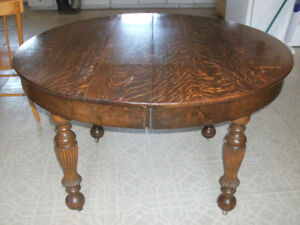 Antique oak dining or kitchen table